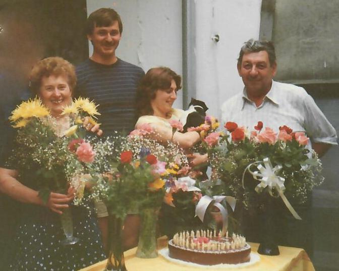 Anna Rammer, Heinrich Mayer, Elfriede Mayer und Karl Zechmeister